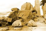[Picture of Ruined Statue - legs and feet - like Ozymandias]