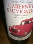 [Picture of label of bottle of Chilean cabernet sauvignon]