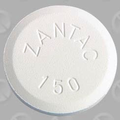[Picture of Zantac pill]