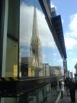 [davedevine's fone snap of Renfield St Stephen reflected on 225 Bath St]