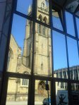 [davedevine's fone snap of Renfield St Stephen reflected on office Block on Bath St]