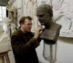 [Picture of Alexander Stoddart working on a bust]