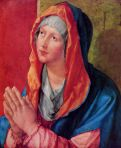 [Durer's mary Praying oil painting]