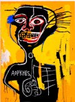 [Colour painting by Basquiat for gallery]