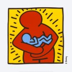 [Picture of parent and baby by Keith Haring]